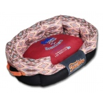 Touchdog 70's Vintage-Tribal Throwback Diamond Patterned Ultra-Plush Rectangular Rounded Dog Bed: Medium, Sangria Pink