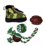 Pet Life 4 Piece Hunter Camouflage Themed Pet Toy Set: One Size, Camouflage