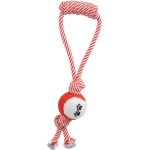 Pet Life Pull Away' Rope And Tennis Ball: One Size, Red