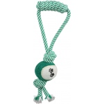 Pet Life Pull Away' Rope And Tennis Ball: One Size, Green