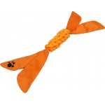 Pet Life Extreme Twist' Squeak Pet Rope Toy: One Size, Orange