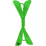 Pet Life Extreme Bow' Squeak Pet Rope Toy: One Size, Green