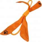 Pet Life Extreme Bow' Squeak Pet Rope Toy: One Size, Orange