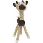 Pet Life Jute And Rope Giraffe - Cow Pet Toy: One Size, Brown