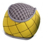 Pet Life Bark-Active Neoprene Mesh Flotation Ball Fetch Dog Toy: One Size, Yellow, Grey