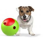 Pet Life The Foobler Timed, Self Reloading Puzzle Feeder for Dogs Toy Ball: One Size, Green, Red