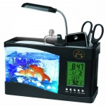 Pet Life All-In-One Digital Desktop Aquarium: One Size, Black