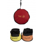Pet Life Double Water Travel Pet Bowl: One Size, Red
