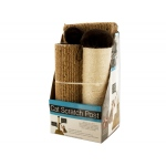 Multi-Textured Cat Scratch Post With Dangling Toy