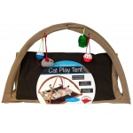 Fleece Cat Play Tent With Dangle Toys: assorted colors
