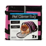 Bulk buys Vented pet carrier bag with reflective stripes: assorted colors