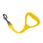 "BihlerFlex The Heeler, 14"" Shock absorbing leash, Yellow"