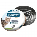 Bayer Seresto Flea and Tick Collar for Cats Gray