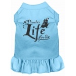 A Pirate's Life Embroidered Dog Dress Baby Blue Sm (10)