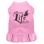 A Pirate's Life Embroidered Dog Dress Light Pink Lg (14)
