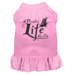 A Pirate's Life Embroidered Dog Dress Light Pink XL (16)