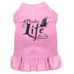 A Pirate's Life Embroidered Dog Dress Light Pink XXXL (20)