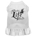 A Pirate's Life Embroidered Dog Dress White Sm (10)