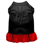A Pirate's Life Embroidered Dog Dress Black with Red XL (16)