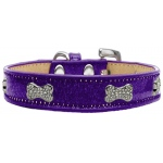 Crystal Bone Dog Collar Purple Ice Cream Size 18