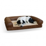 "K&H Pet Products Bomber Memory Dog Sofa Large Brown 30"" x 41"" x 9"""