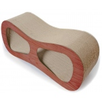 Pet Life Cat-Eyed Ultra Premium Contoured Lounger Designer Cat Scratcher: One Size, Wood