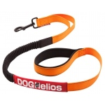 Dog Helios Neo-Indestructible Easy-Tension Sporty Embroidered Thick Durable Pet Dog Leash: Small, Orange