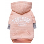 Touchdog Hampton Beach Designer Ultra Soft Sand-Blasted Cotton Pet Dog Hoodie Sweater: Large, Pink
