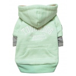 Touchdog Hampton Beach Designer Ultra Soft Sand-Blasted Cotton Pet Dog Hoodie Sweater: Large, Green