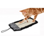 Pet Life 'Scrape-Away' Eco-Natural Sisal And Jute Hanging Carpet Cat Scratcher With Toy: One Size, Black