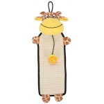 Pet Life Paw-Pleasant Eco-Natural Sisal And Jute Hanging Carpet Kitty Cat Scratcher With Toy: One Size, Brown / Yellow
