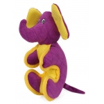 Pet Life Cartoon Funimal Plush Animal Squeak Chew Tug Dog Toy: One Size, Purple