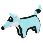 Pet Life Foxy-Tail Quilted Plush Animal Squeak Chew Tug Dog Toy: One Size, Blue