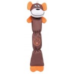 Pet Life Extra Long Dura-Chew Reinforce Stitched Durable Water Resistant Plush Chew Tugging Dog Toy: One Size, Brown