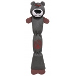 Pet Life Extra Long Dura-Chew Reinforce Stitched Durable Water Resistant Plush Chew Tugging Dog Toy: One Size, Grey