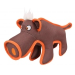 Pet Life Animal Dura-Chew Reinforce Stitched Durable Water Resistant Plush Chew Tugging Dog Toy: One Size, Brown