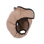 Pet Life Pooper-Dooper Protective, Reusable, And Washable Training Dog Diaper Cover-Up: Small, Khaki