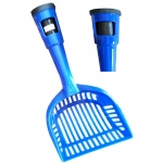 Pet Life Poopin-Scoopin Dog And Cat Pooper Scooper Litter Shovel With Built-In Waste Bag Handle Holster: One Size, Blue