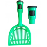 Pet Life Poopin-Scoopin Dog And Cat Pooper Scooper Litter Shovel With Built-In Waste Bag Handle Holster: One Size, Green
