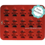 "K9 Cakery Silicone Cake Pan: 15 Mini Fire Hydrants, 1.5"" x 0.5"" Deep"