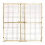 "MidWest Homes for Pets Wood Gate with Wire Mesh: 29"" - 50"" x 44"""