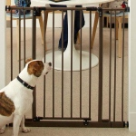 "North States Extra Tall Deluxe Easy-Close Pressure Mounted Pet Gate Brown 28"" - 38.5"" x 36"""